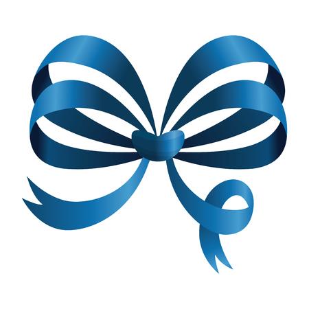 ribbon bowtie decorative icon vector illustration design