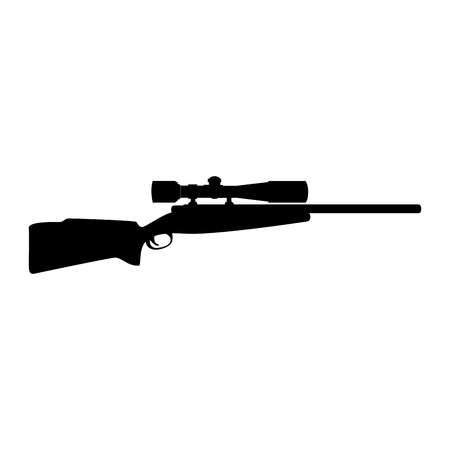 Sniper rifle weapon icon vector illustration design Illustration