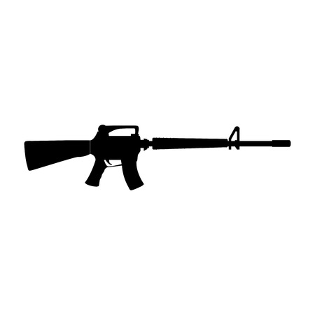 Rifle war weapon icon vector illustration design Illusztráció