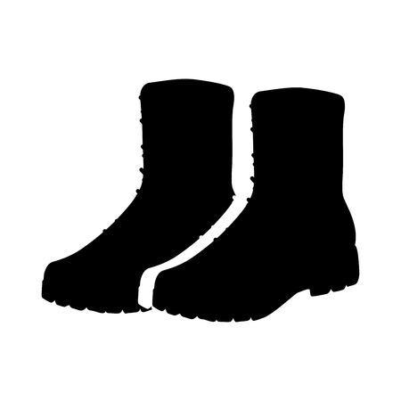 Military boots equipment icon vector illustration design Stok Fotoğraf - 100283715