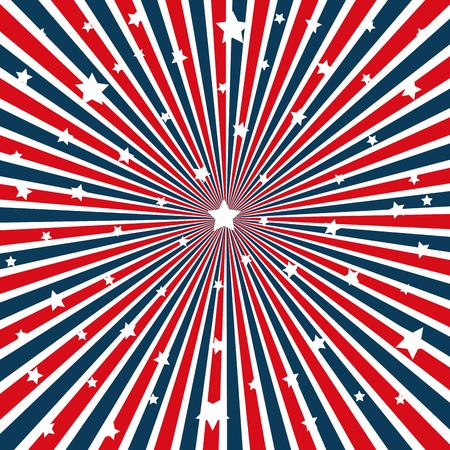 United states of america stars pattern vector illustration design