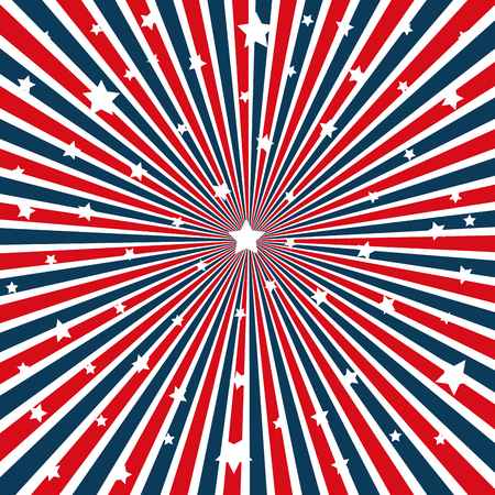 United states of america stars pattern vector illustration design