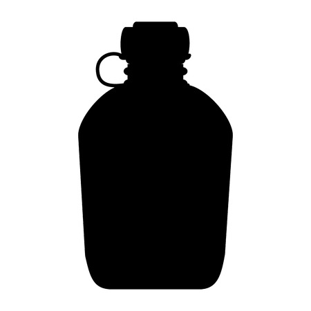 military canteen isolated icon vector illustration design 写真素材