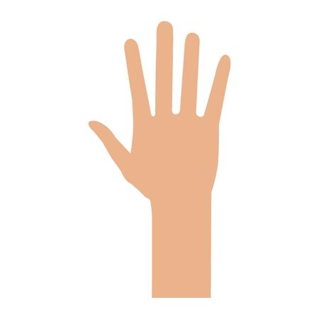 Hand human isolated icon vector illustration design