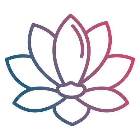 beautiful flower decorative icon vector illustration design