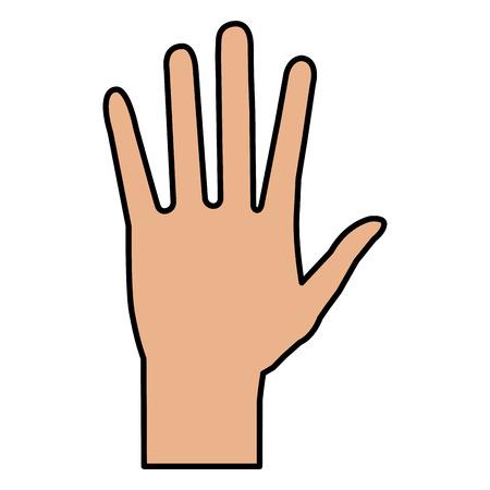hand human isolated icon vector illustration design Stok Fotoğraf
