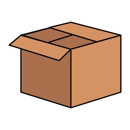 box carton delivery service vector illustration design