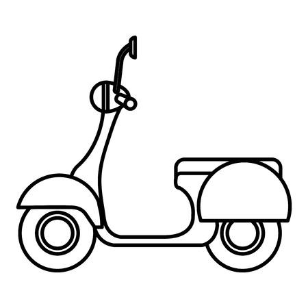 Scooter fiets geïsoleerd pictogram vector illustratie ontwerp Vector Illustratie