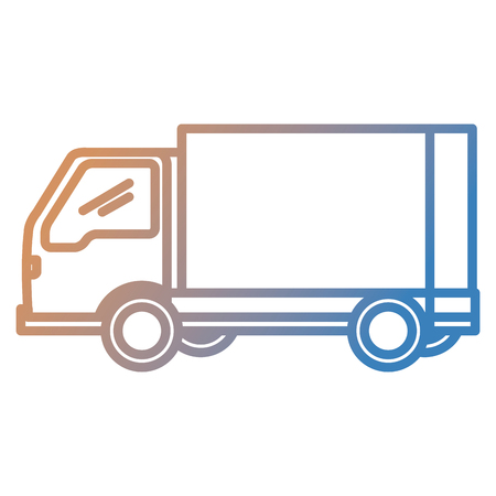 delivery service truck isolated icon vector illustration design Иллюстрация