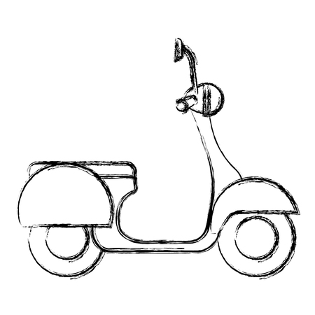scooter bike isolated icon vector illustration design Illustration