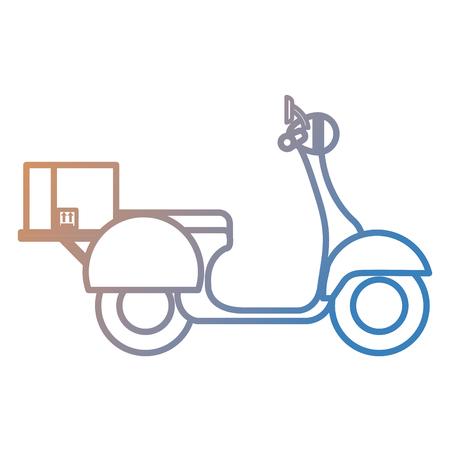 scooter bike with carton box vector illustration design Ilustração