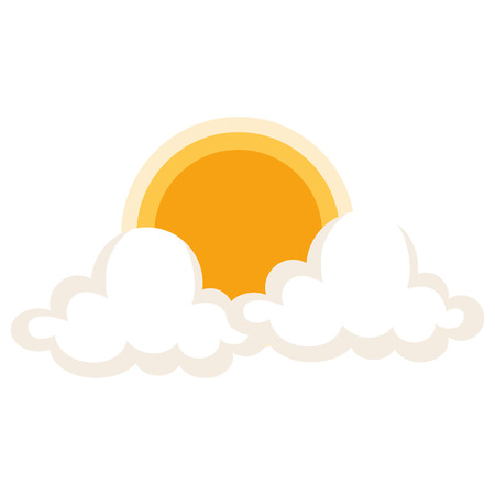 clouds sky with sun vector illustration design Stock Photo
