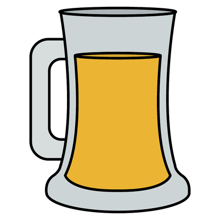 beer jar celebration icon vector illustration design