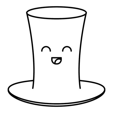 Irish elf hat kawaii character vector illustration design