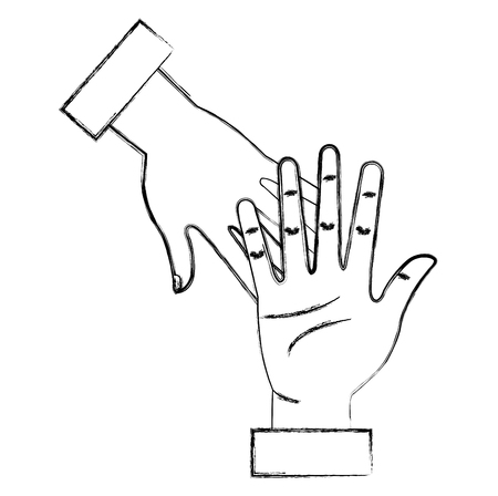 hands human touching icon vector illustration design