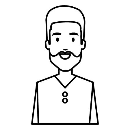 Young man avatar character vector illustration design.