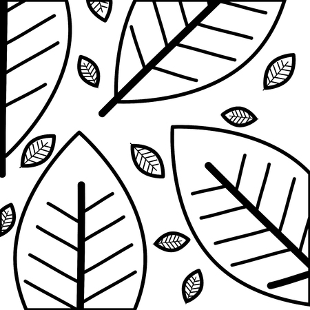 Leafs plant ecology pattern design Иллюстрация