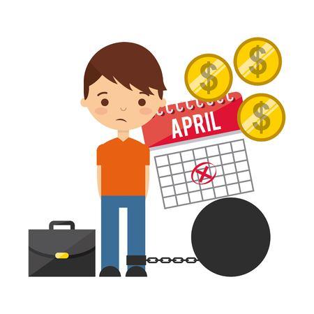 taxs day design, vector illustration eps10 graphic