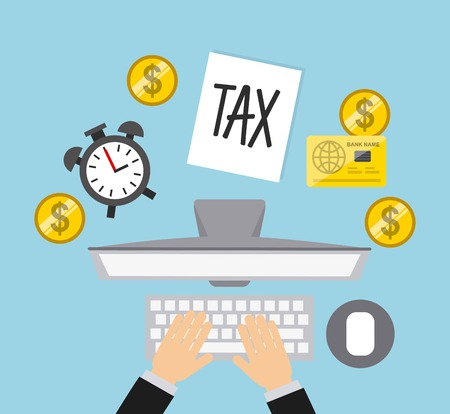 taxs day design, vector illustration eps10 graphic 스톡 콘텐츠 - 100293998
