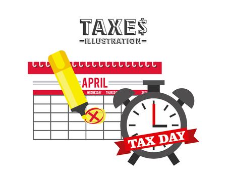 taxs day design, vector illustration eps10 graphic