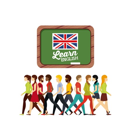 learn english design, vector illustration eps10 graphic Stok Fotoğraf - 100293766