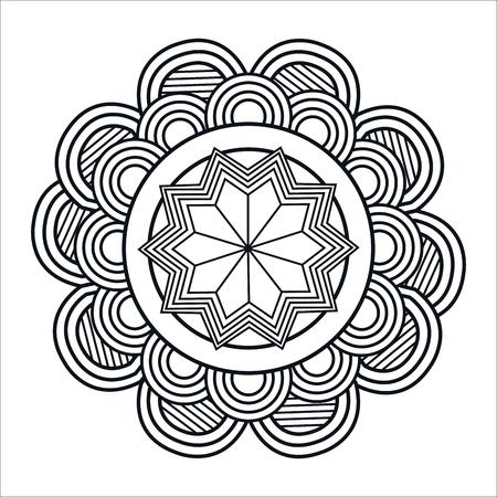 mandale monochrome art icon vector illustration design Foto de archivo - 100317858
