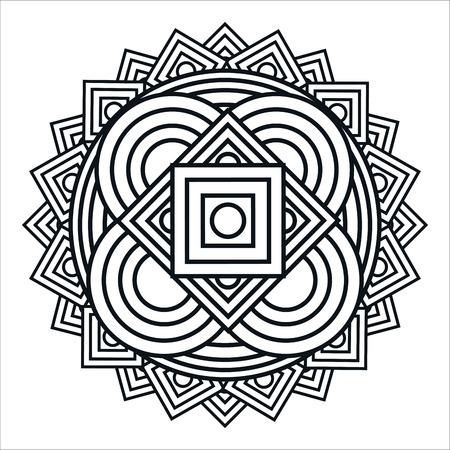 mandale monochrome art icon vector illustration design