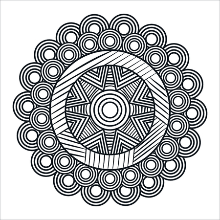 mandale monochrome art icon vector illustration design Фото со стока - 100317860