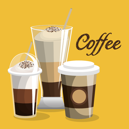 delicious coffee shop products vector illustration design Illustration