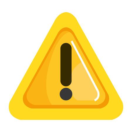 Diseño de ilustración de icono de triángulo de signo de alerta.