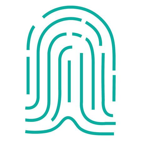 Fingerprint access isolated icon illustration design.