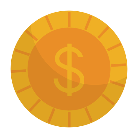 Coin money isolated icon vector illustration design.