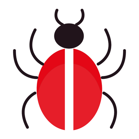 Bug insect isolated icon vector illustration design.  イラスト・ベクター素材