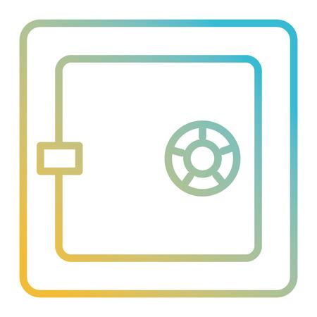 Safe box isolated icon vector illustration design. Foto de archivo - 100479043