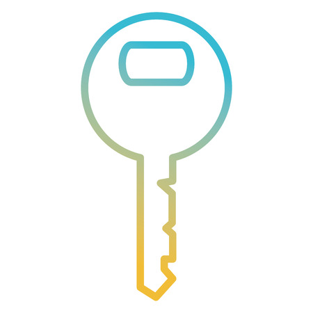 Key door isolated icon vector illustration design.