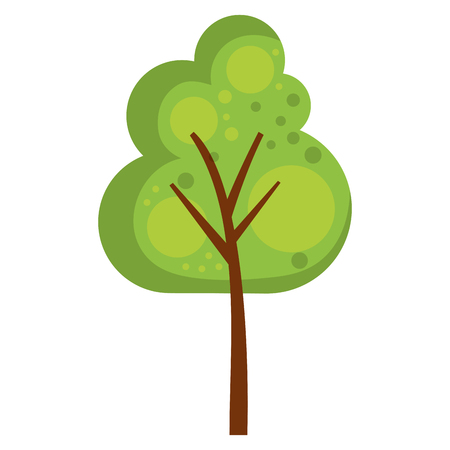 tree plant natural icon vector illustration design Çizim