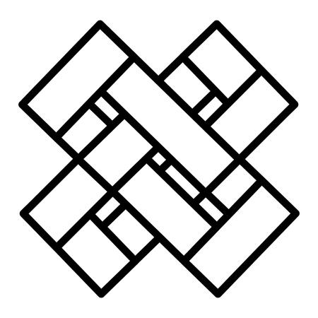 business emblem with x shape vector illustration design