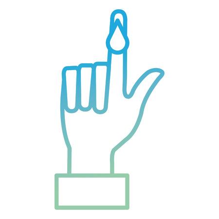 finger with drop blood vector illustration design