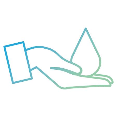 hand human receiving drop vector illustration design