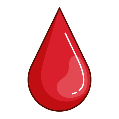 Drop blood red icon vector illustration design