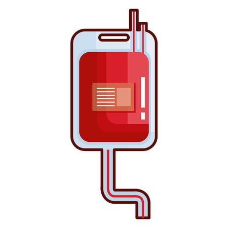 Donate blood bag isolated icon vector illustration design Illustration