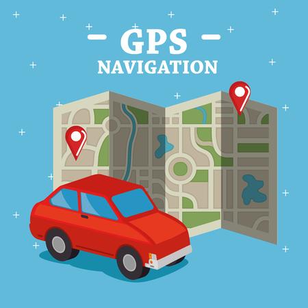GPS navigation set icons vector illustration design