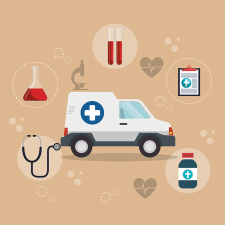 Medical service set icons vector illustration design