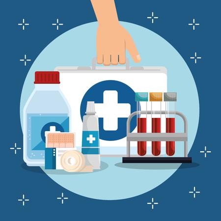 medical service set icons vector illustration design Zdjęcie Seryjne - 100428143