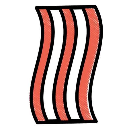 bacon fried fast food image vector illustration drawing