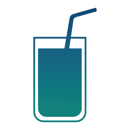 fresh juicy orange beverage image vector illustration gradient color