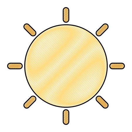 Cute sun character vector illustration design Ilustrace