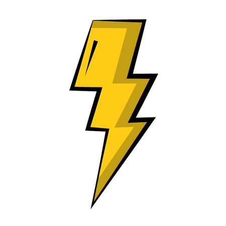 thunder light isolated icon vector illustration design