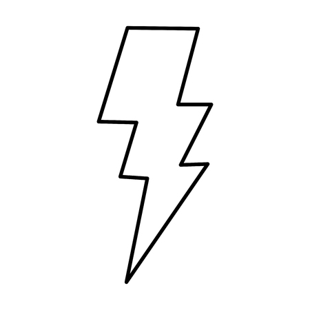 thunder light isolated icon vector illustration design