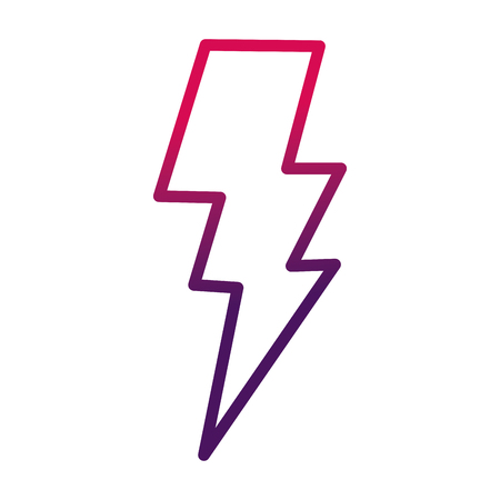 Power lightning storm light icon image vector illustration degraded design